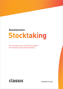 Questionnaire stocktaking GESTIN-77 inventory sampling classix